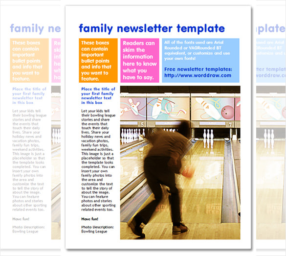 7+ Family Newsletter Templates – Free Word Documents Download