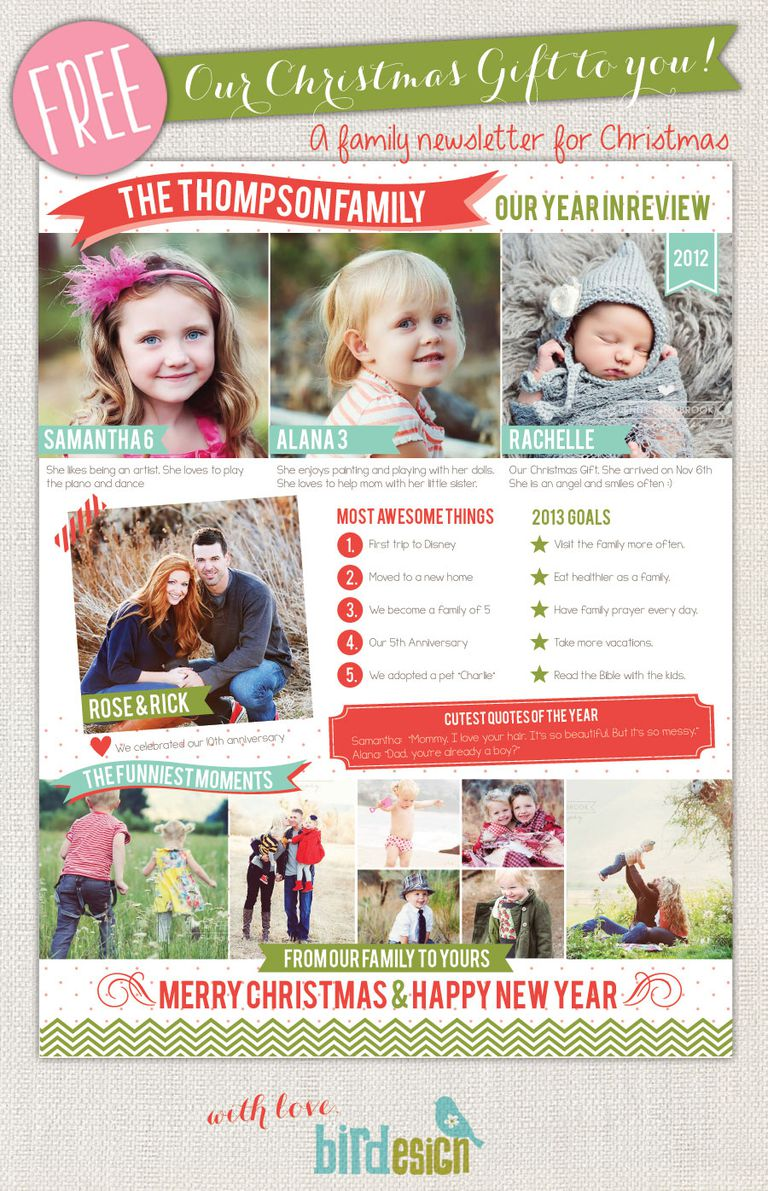Family Newsletter Templates Free Free Printable Family Newsletter