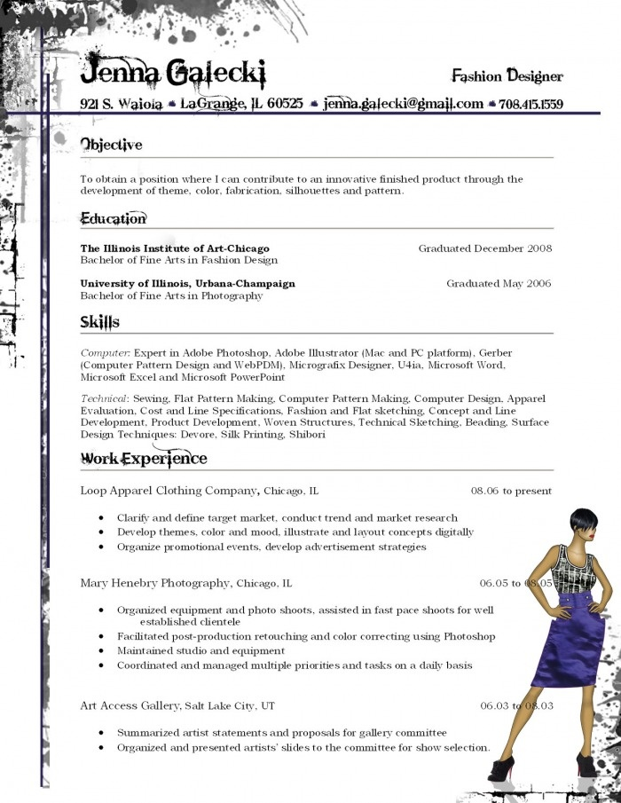 Download Fashion Designer Resume Sample | Diplomatic Regatta