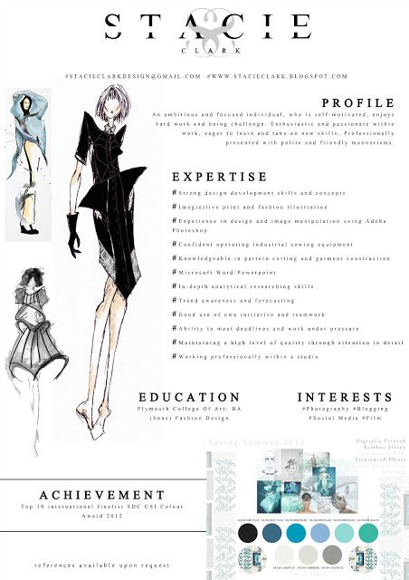 Fashion CV example and how it was created http://stacieclark