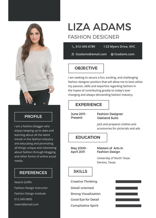 Free Fashion Designer Resume and CV Template in PSD, MS Word