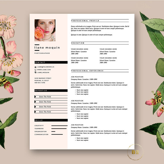 Creative Minimalist Resume Template Modern CV With Free Cover