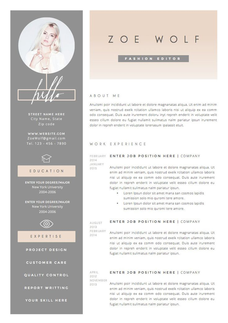 Fashion Resume Template As Resume Template Download Fashion Resume