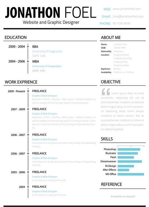 Fashion Resume Template Great Templates Cv   All Best Cv Resume Ideas