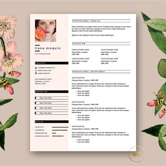 Fashion Resume Templates Asafonggecco intended for Fashion Cv