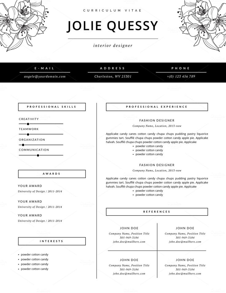 fashion resume templates resume template fashion resume templates