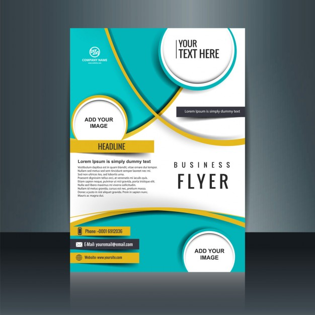 Business flyer template with circular shapes Vector | Free Download