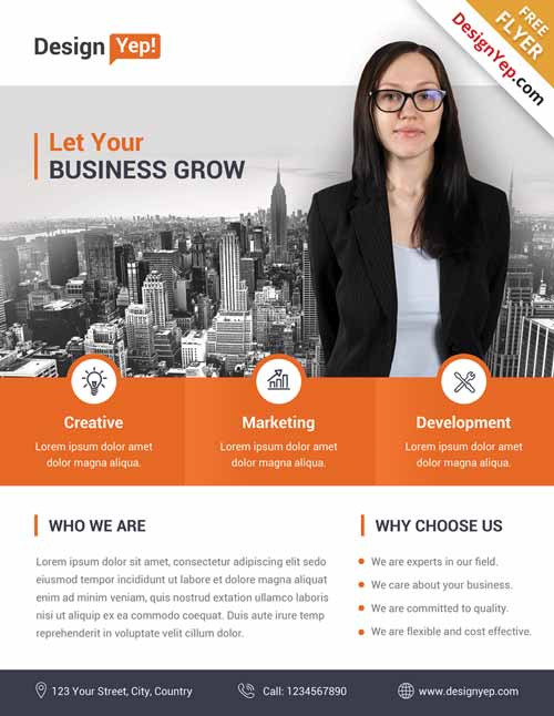 FreePSDFlyer | Download Corporate Business Free Flyer PSD Template