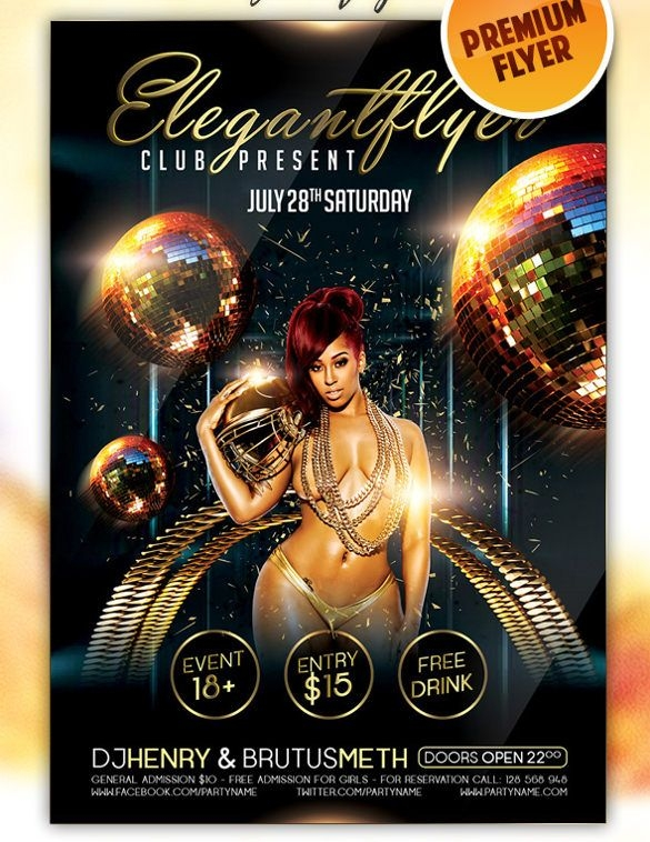 Club Party Flyer Templates Free Nightclub Flyer Designs pertaining
