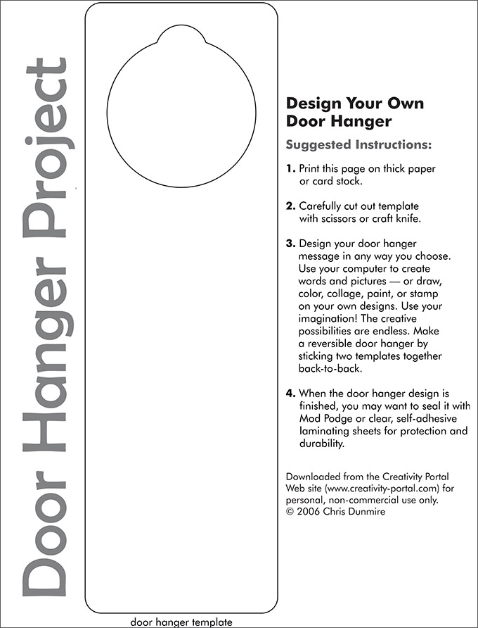 Blank Printable Door Hangers Door Hanger Template Publisher Door