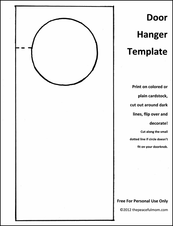 door hanger template psd   Into.anysearch.co