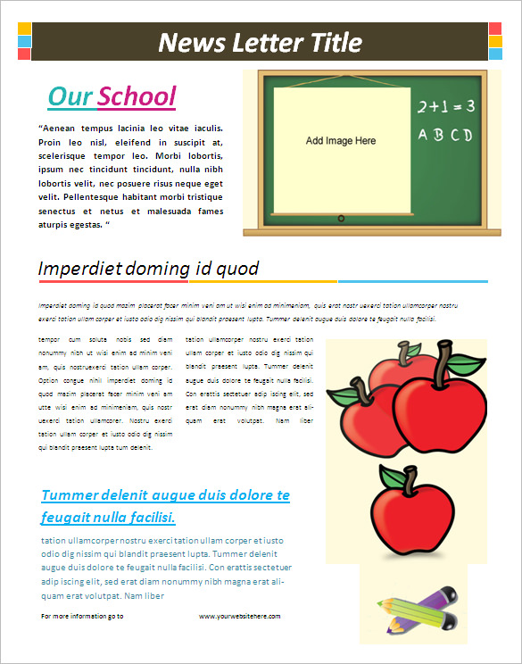 free classroom newsletter templates for microsoft word teacher