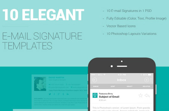Email Signature Template Freebie   Download Photoshop Resource