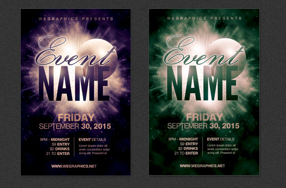 Free Event Flyer Template Event Postcard Flyer Template Vol2