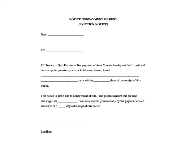 Fresh Eviction Notice Template | time to regift