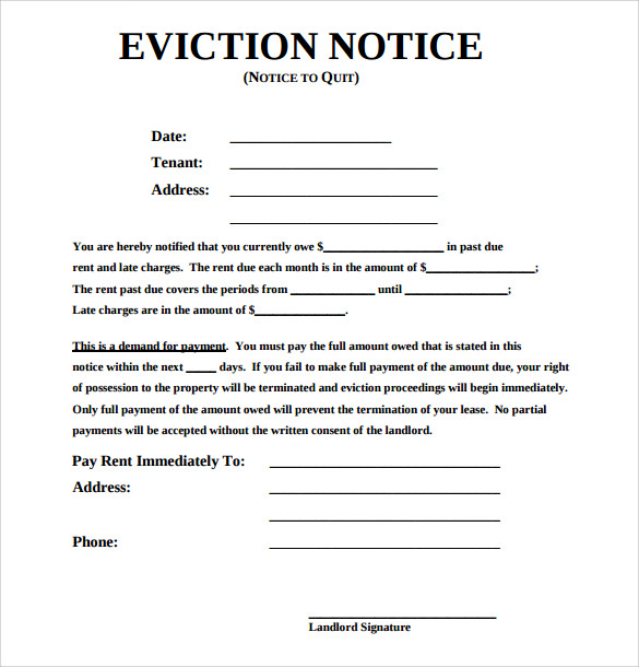 free eviction notice template word   Maggi.locustdesign.co
