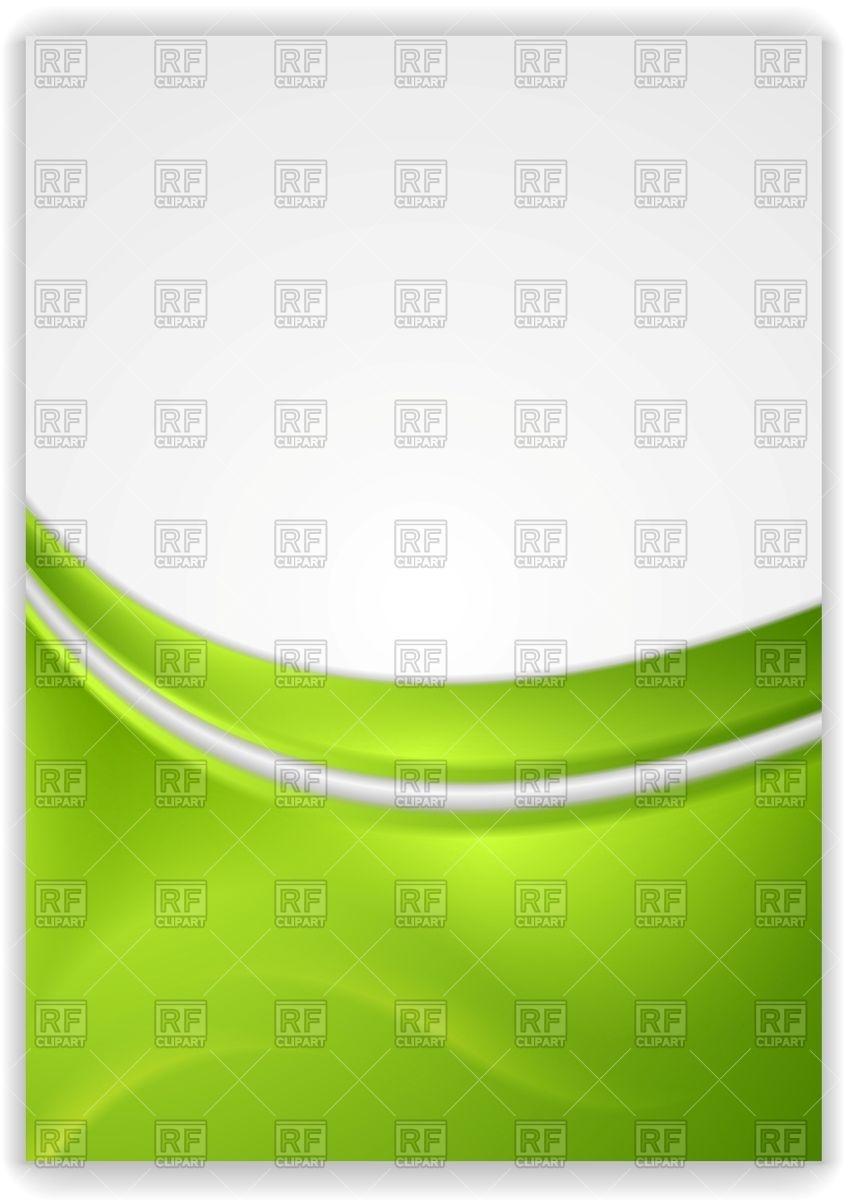 Abstract green wavy background   flyer template Vector Image