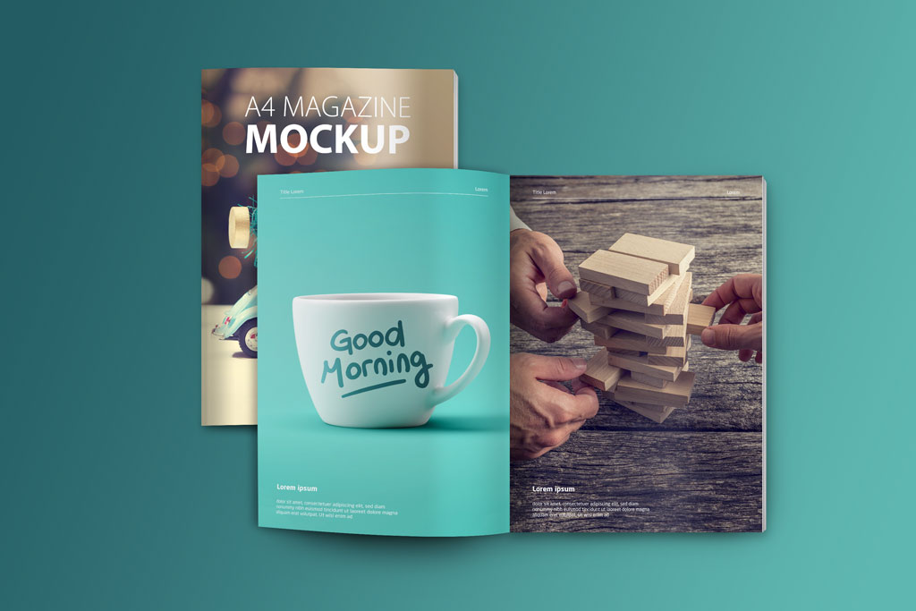 Free Magazine Cover mockup +design | FreedownloadPSD.com