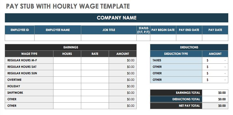 Free Pay Stub Template Word – Demonow in Paycheck Template