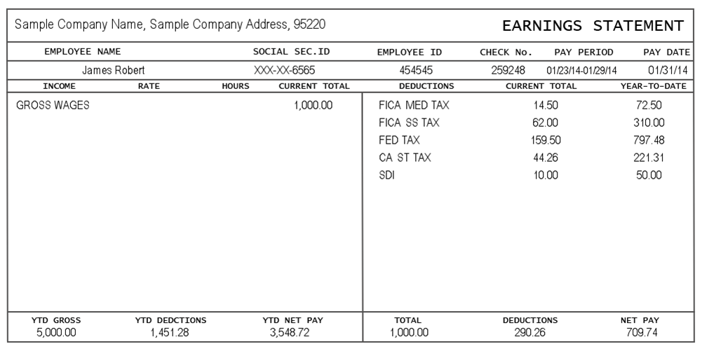 25 Great Pay Stub / Paycheck Stub Templates
