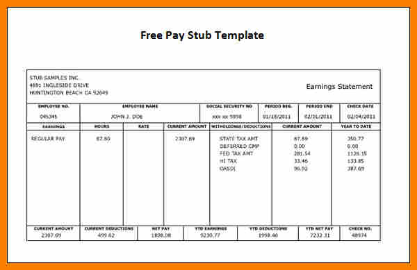 Lovely Free Payroll Checks Templates | Business Template