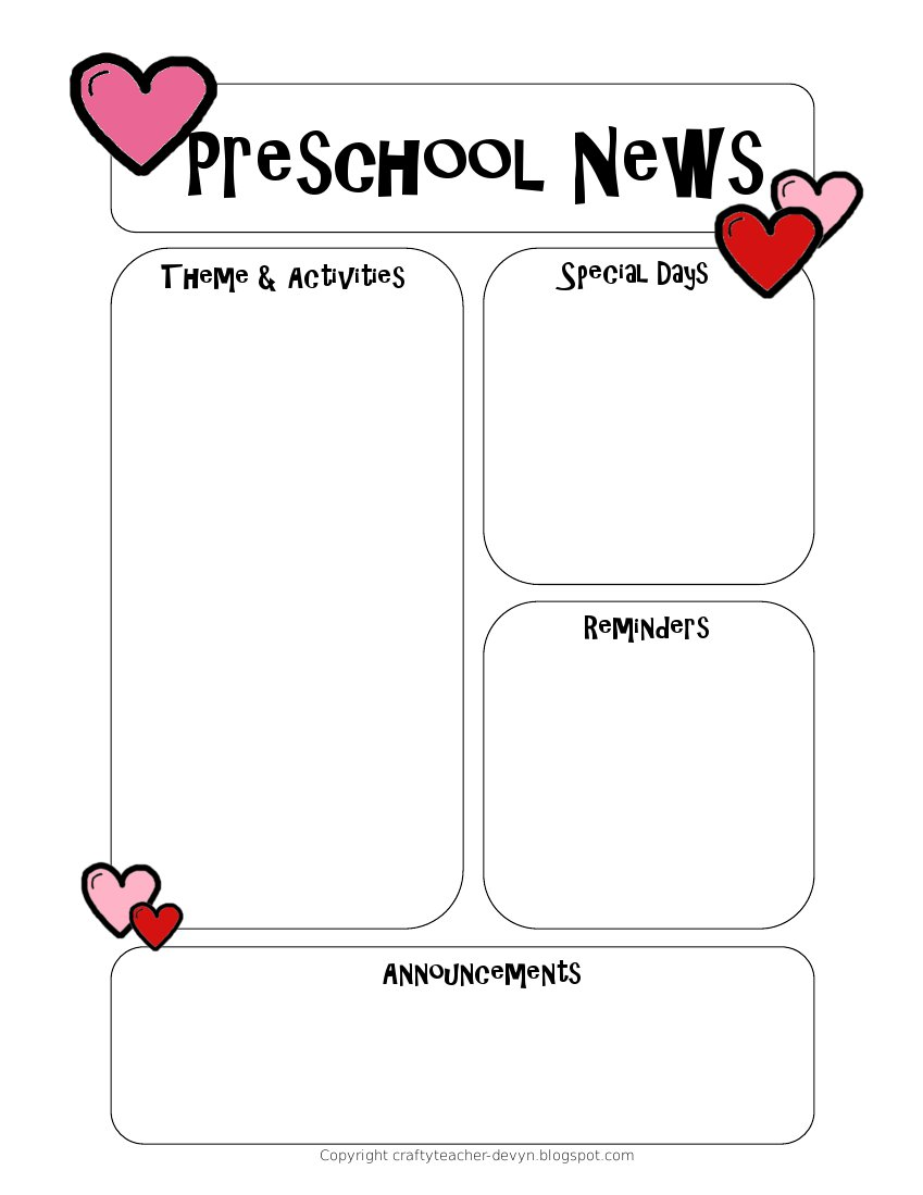 preschool newsletter template   Into.anysearch.co