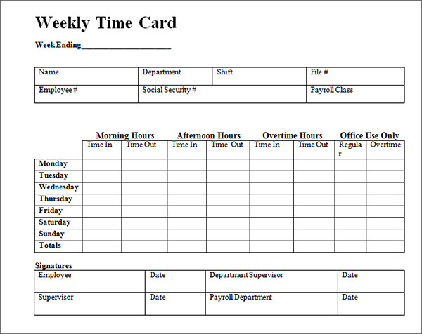 Printable Weekly Time Cards Zoroblaszczakco Weekly Time Cards