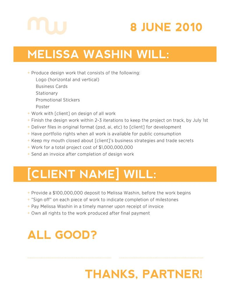 Freelance Design Contract Example | Pinterest | Layouts