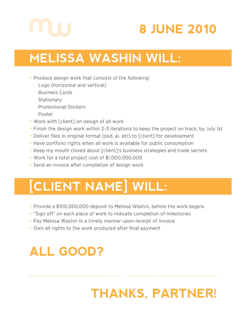 Freelance Design Contract Example | This is an example of a … | Flickr