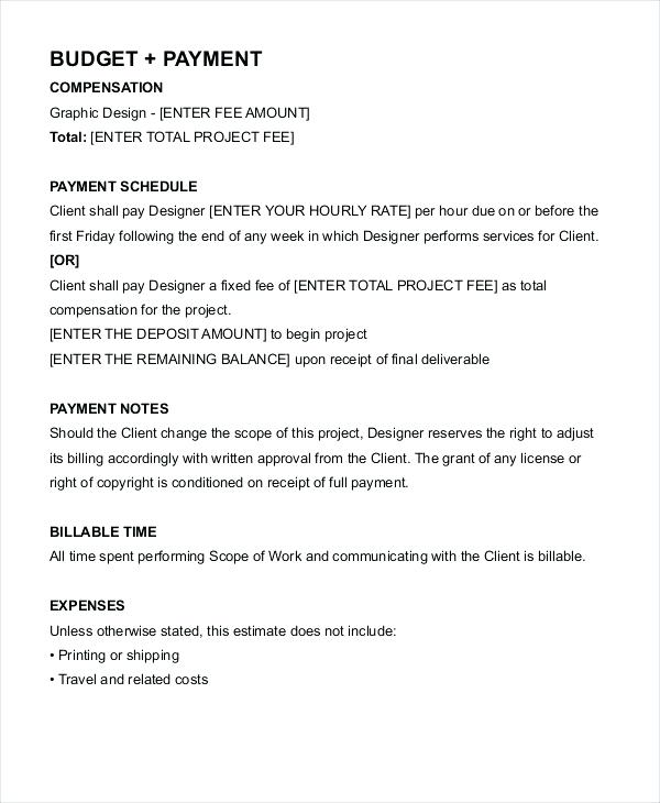 graphic design agreement template interior design contract sample