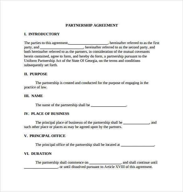 Sample General Partnership Agreement   11+ Documents In Pdf, Word