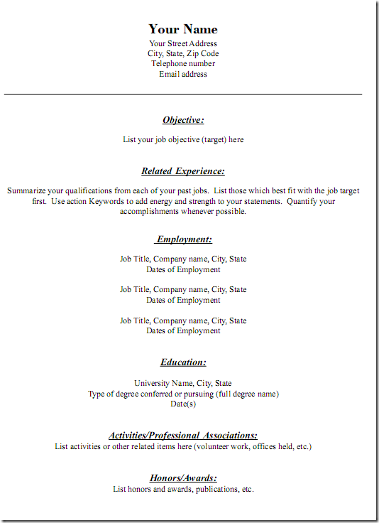 generic resumes   Ecza.solinf.co
