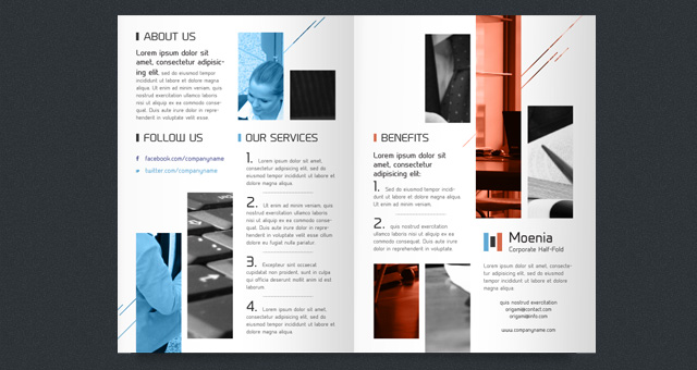free half fold brochure template publisher free half fold brochure