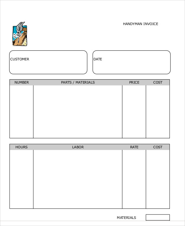 Invoice Template For Handymen And Plumbers For Life Pinterest