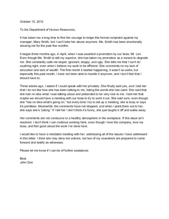 12+ Environment Complaint Letter Templates – Free Sample, Example