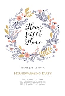 Wrap Party Invite Template Free Printable Housewarming Party