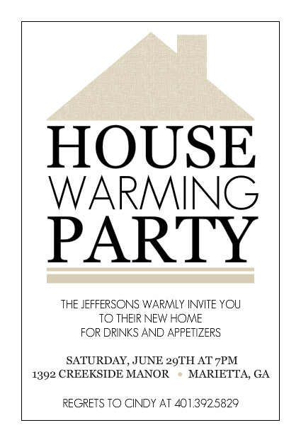 Housewarming Party Invitation Template   sansalvaje.Com
