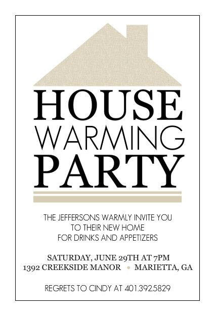Free Housewarming Party Invitation Template Free Printable