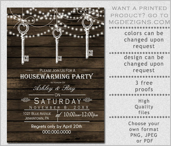 Perfect Housewarming Party Invites Free Template   Birthday and