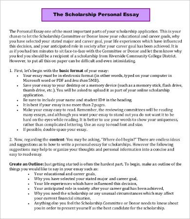 sample scholarship essay format   Mini.mfagency.co