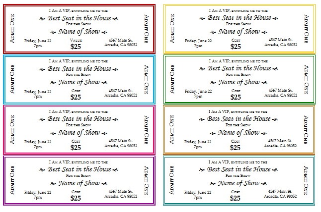 How To Make Tickets For A Fundraiser Event Ticket Templates Make