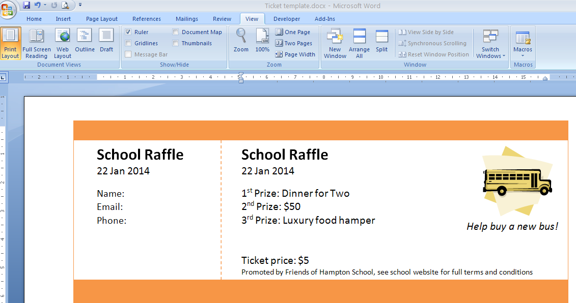 Make Tickets For Fundraiser Making Raffle Ticket Exolgbabogadosco