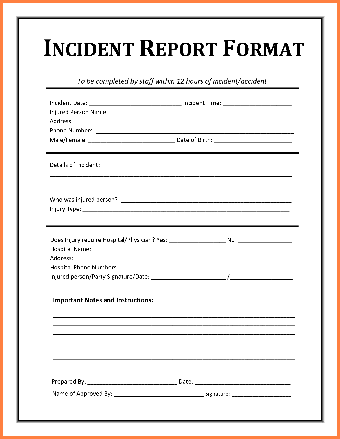 safety incident report form template   Maggi.locustdesign.co
