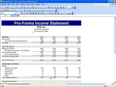Income Statement Template | Microsoft Excel Templates