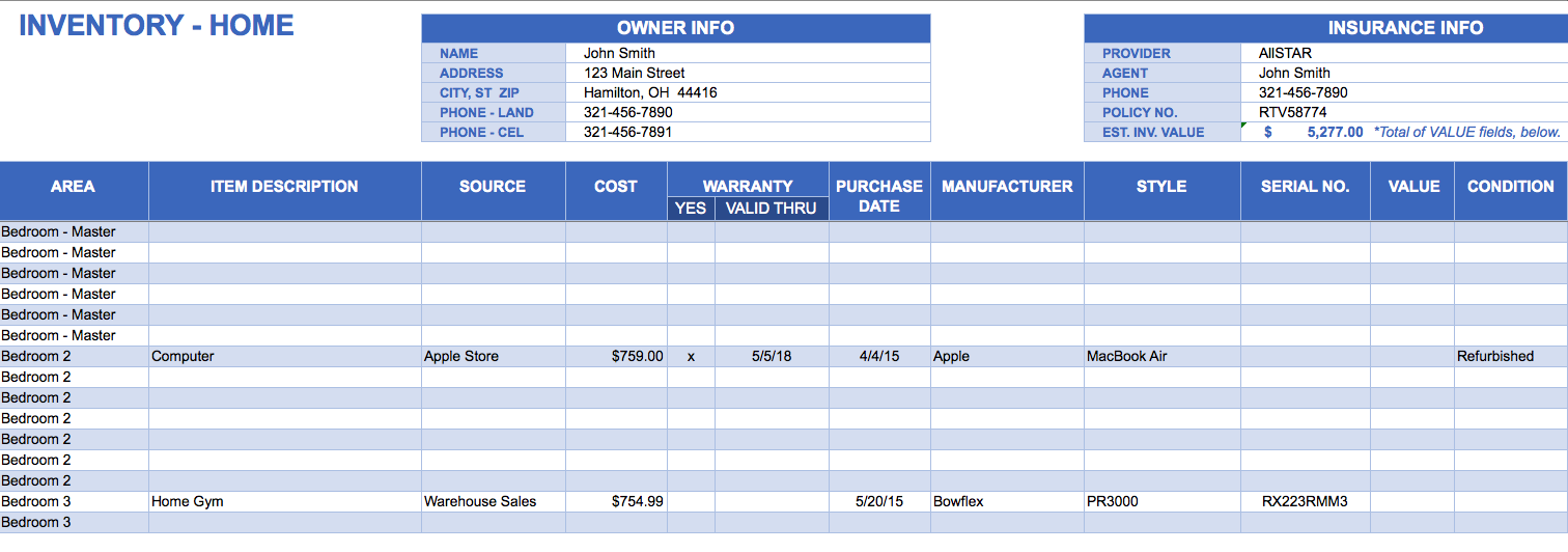 8+ inventory management excel template free download | emt resume