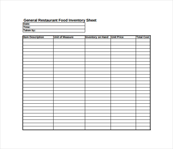 blank inventory sheet free download   Mini.mfagency.co