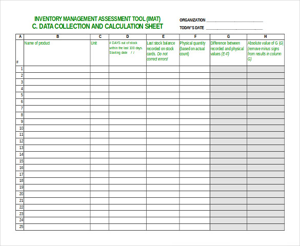 Inventory Spreadsheet Template   48+ Free Word, Excel Documents