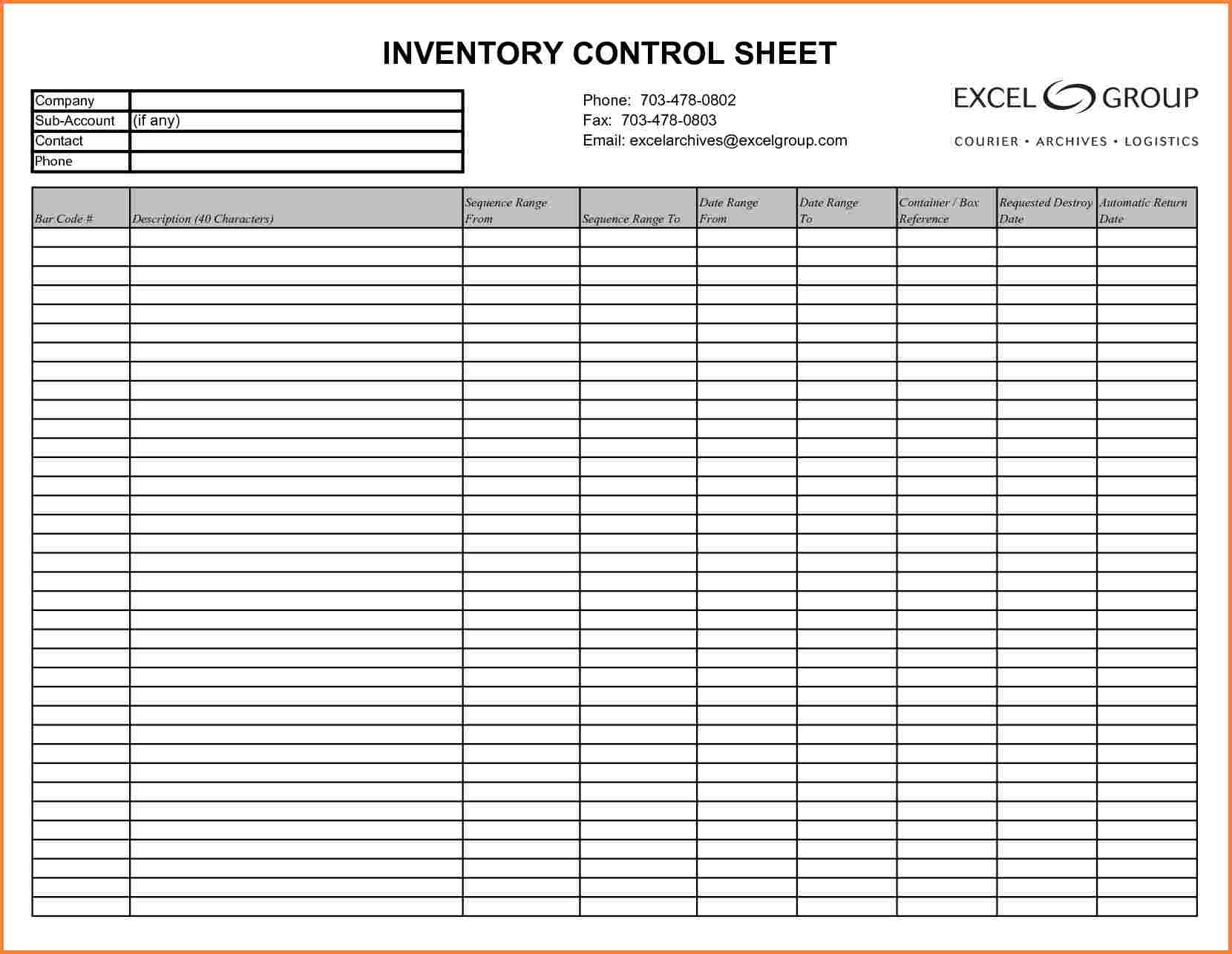 Inventory sheet example spreadsheet examples of sample template