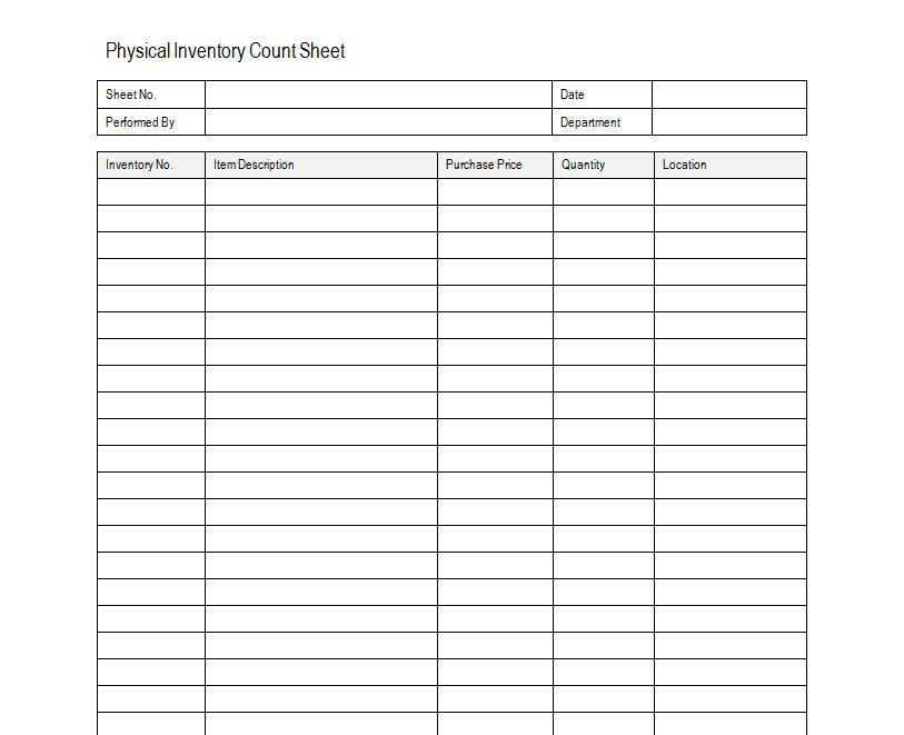 Inventory Sheet Sample Free Inventory Template Estate Sale Packing