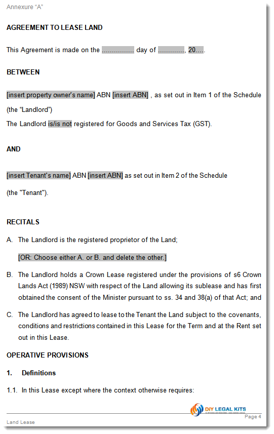 Land Contract Form   5 Free Templates in PDF, Word, Excel Download